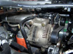 the 96 Ford 7.3 alternator in action